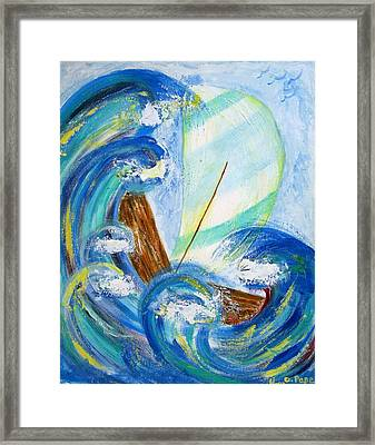 Stormy Sails Framed Print by Diane Pape