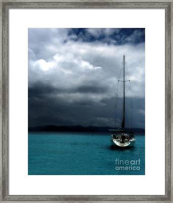 Stormy Sails Framed Print by Heather Green