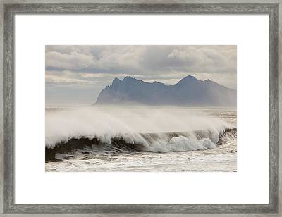 Stormy Sea Framed Print by Ashley Cooper