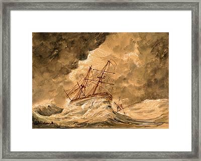Stormy Sea  Framed Print by Juan  Bosco