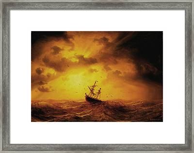 Stormy Sea Framed Print by Marcus Larson
