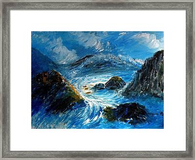 Stormy Sea Framed Print by Mauro Beniamino Muggianu
