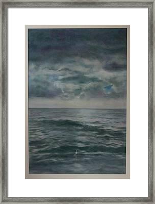 Stormy Sea Framed Print by Paez  Antonio