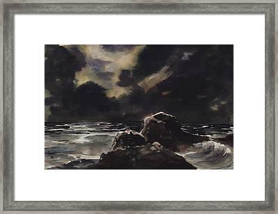 Stormy Sea Framed Print by Sam Sidders