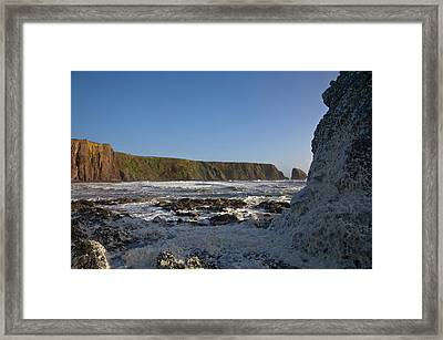 Stormy Seas At Ballydowane Cove,near Framed Print by Panoramic Images