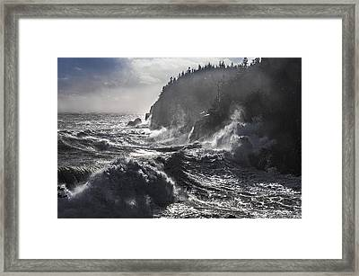 Stormy Seas At Gulliver's Hole Framed Print by Marty Saccone
