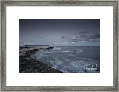 Stormy Seas At The Cobb  Framed Print by Rob Hawkins