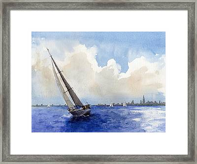 Stormy Seas Framed Print by Max Good