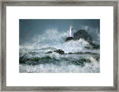 Stormy Seas Framed Print by Michael Malicoat