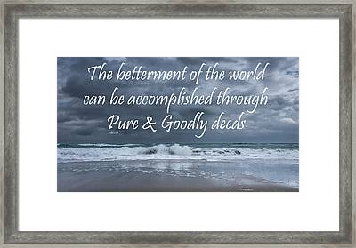 Stormy See Bahai Quote Framed Print
