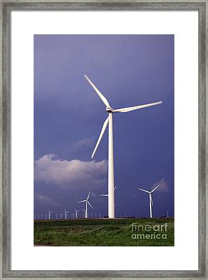 Framed Print featuring the photograph Stormy Skies by Jim McCain