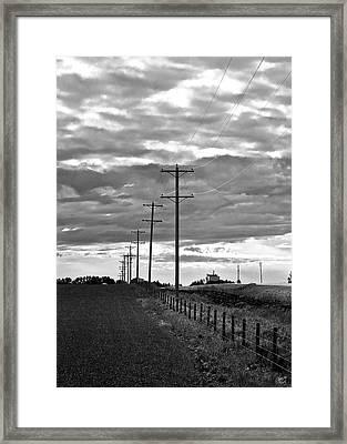 Stormy Skies Framed Print by Lisa Knechtel