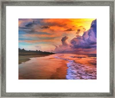 Stormy Skies Framed Print by Michael Pickett