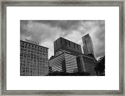 Framed Print featuring the photograph Stormy Skies by Miguel Winterpacht