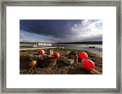Stormy Skies Over Findhorn Bay Framed Print by Karl Normington