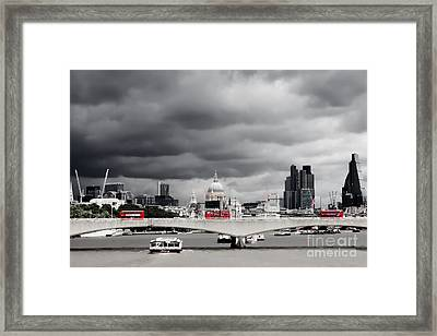 Stormy Skies Over London Framed Print