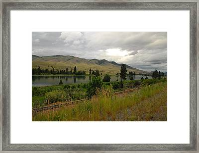 Stormy Skies Over Montana Framed Print by Larry Moloney