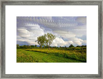 Stormy Skies Stacked Framed Print by Jackie Novak