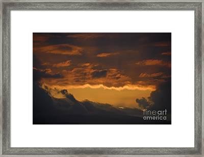 Stormy Sky At Sunset Framed Print by Sami Sarkis