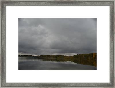 Stormy Sky In Autumn Framed Print by Cim Paddock