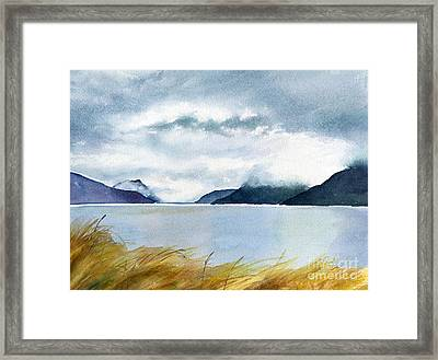 Stormy Sky Over Turnagain Arm Framed Print by Sharon Freeman
