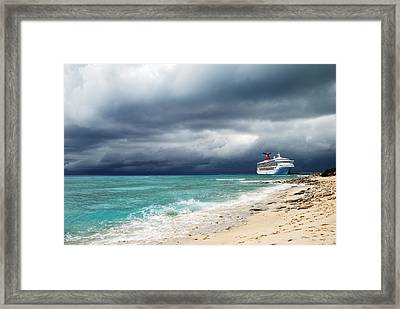 Storm Is Coming... Framed Print
