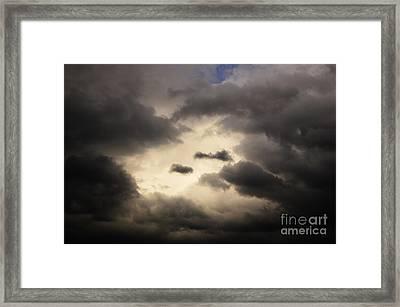 Stormy Sky With A Bit Of Blue Framed Print by Thomas R Fletcher