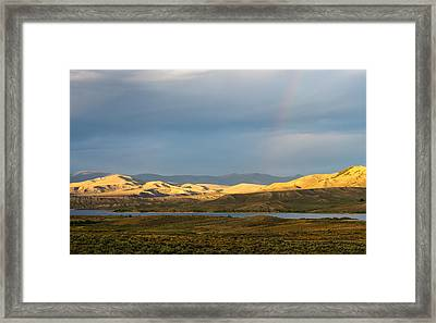 Stormy Sky With Rays Of Sunshine Framed Print