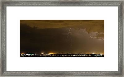 Stormy Stadium Framed Print by Cory  Stangle