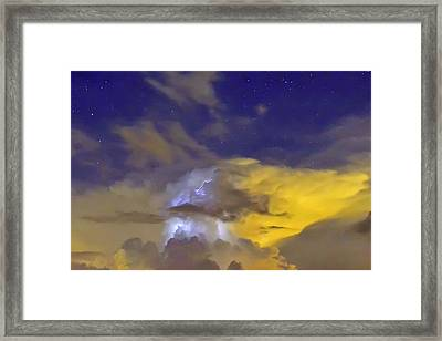 Framed Print featuring the photograph Stormy Stormy Night by Charlotte Schafer