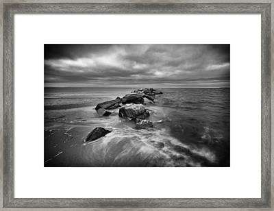Stormy Sunken Meadow Framed Print by Mike Lang