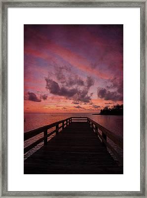 Stormy Sunset Framed Print by Beverly Stapleton