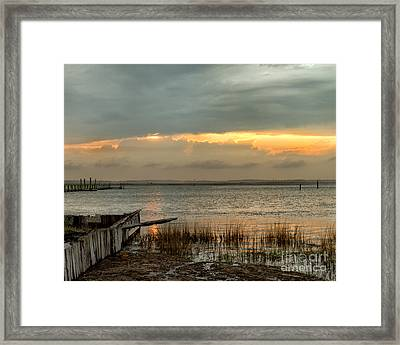 Stormy Sunset Framed Print by Dale Nelson