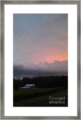 Stormy Sunset Framed Print by Gayle Melges