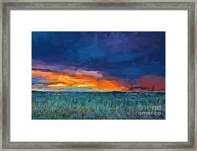 Stormy Sunset Lv Framed Print