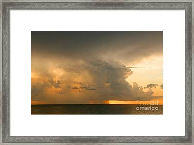 Framed Print featuring the photograph Stormy Sunset by Mariarosa Rockefeller