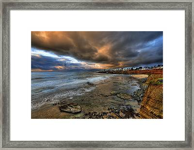 Stormy Sunset Framed Print by Peter Tellone