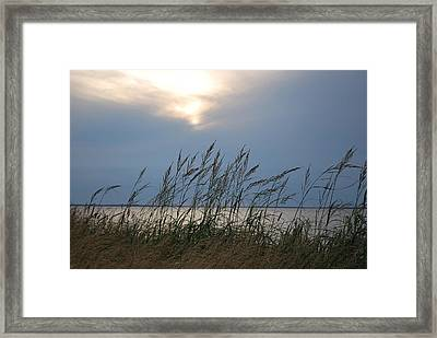 Stormy Sunset Prince Edward Island II Framed Print by Micheline Heroux