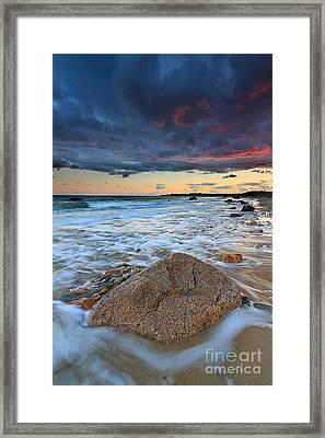 Stormy Sunset Seascape Framed Print by Katherine Gendreau