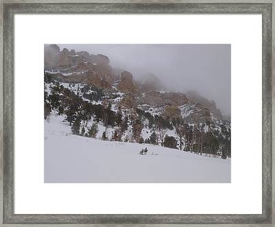 Framed Print featuring the photograph Stormy Thomas Canyon by Jenessa Rahn