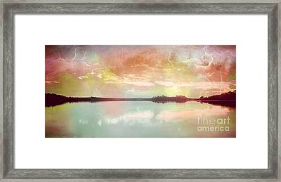 Stormy Water Reflection Framed Print by Phill Petrovic