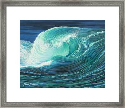 Stormy Wave Framed Print