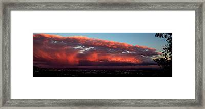 Stormy Weather At Sunset, Cannes Framed Print