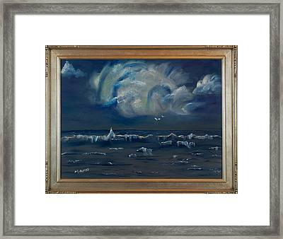 Stormy Weather Framed Print by Margaret Pappas