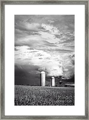 Stormy Weather On The Farm Framed Print by Edward Fielding