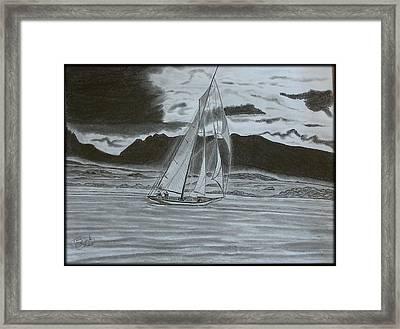 Stormy Weather Framed Print by Tony Clark