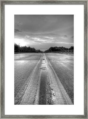 Stormy Yellow Lines II Framed Print by David Paul Murray
