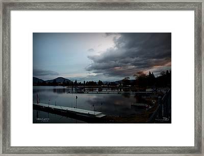 Stormysunrise1 Framed Print