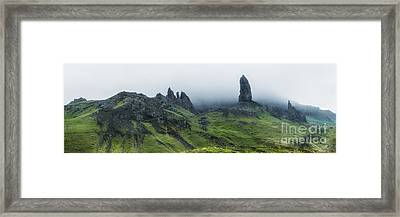 Storr In The Clouds Framed Print by Matt  Trimble