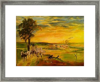 Story Framed Print by Mary Ellen Anderson